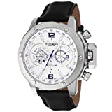 Swiss Watches:Akribos XXIV Men's AKR469WT Conqueror Multifunction Stainless Steel Swiss Quartz Strap Watch