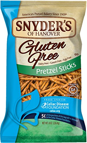 Snyder's of Hanover Gluten Free Pretzel Sticks, 8 Ounce (Pack of 12) (Gluten Free Snyders compare prices)