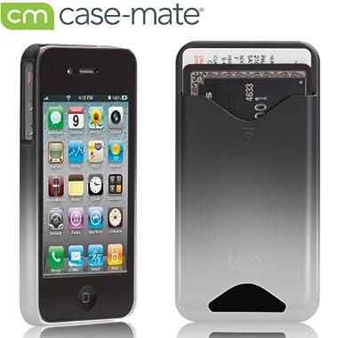 Case-Mate iPhone4 専用 カードホルダー付ハードケース ID Case マット・ロイヤル・シルバー CM012234