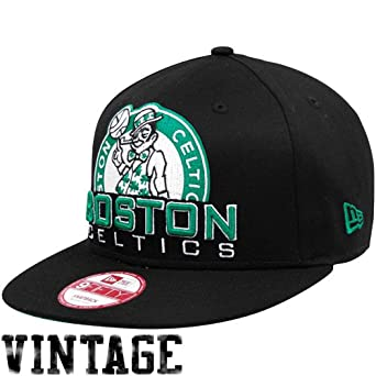 Boston Celtics Retro Chop 9fifty New Era Snapback Hat Cap by New Era