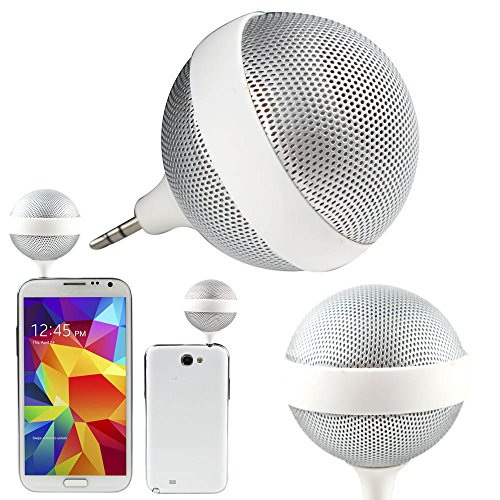 Boriyuan New Ultra-Portable Mini 3.5Mm Speaker Compatible For Ipod, Iphone 3 3S 4 4S 5 5C 5S/ 4.7'' Iphone 6/ 5.5'' Iphone 6 Plus, Ipad 2 3 4 5 Air Mini, Samsung Galaxy S5 I9600/ S4 I9500/ S4 Mini/ Note 2 N7100/ Note 3 N9000/ Note 4 N9100/ Mega 6.3 I9200,