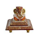 EtsiBitsi Ganesh, ganesha, ganesh on chowki, beautiful chowki ganesh for gift, home decor, table décor