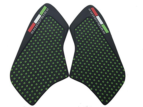 Green Traction Pad Gas Fuel Tank Anti Side Slip Protector For Monster 1100 796 696 Superbike (Monster Energy Tank Pad compare prices)