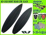 サーフィン入門4点セットNO-LOGOショートボード6.2 BLACK 3FIN カスタムボード