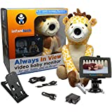 "Infanttech Always in View 4.3"" Video and Audio Baby Monitor (Giraffe) - The Baby Monitor for Home, Cars and On the Go"
