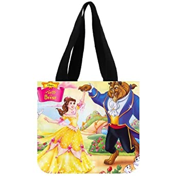 Disney Classic Cartoon Characters Beauty and the Beast Custom Tote Bag 02
