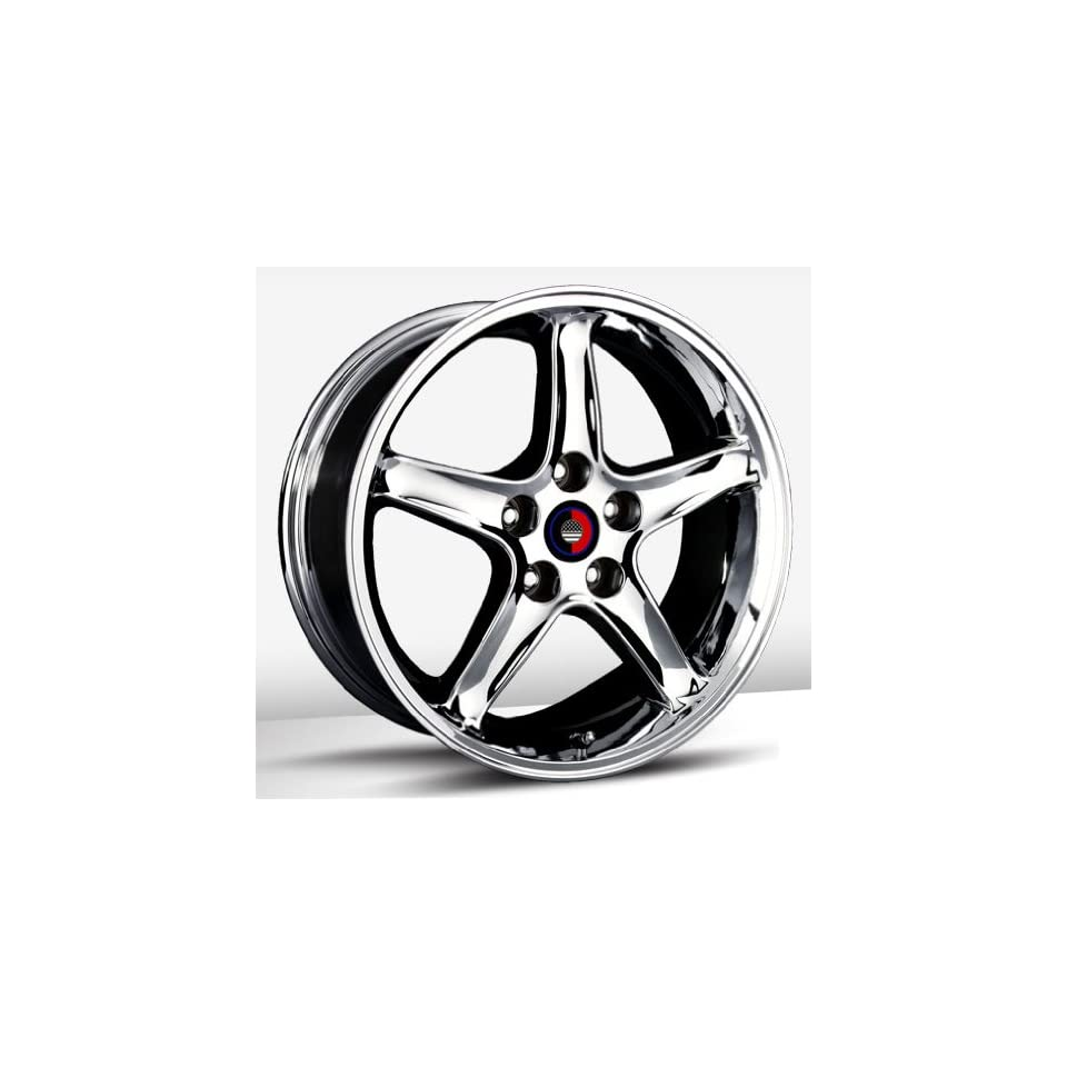 17x9 Trade Union Cobra R Replica (Chrome) Wheels/Rims 4x108 (1110 7934C) Automotive