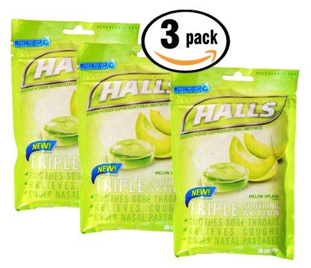 pack-of-3-halls-melon-splash-triple-soothing-action-menthol-cough-drops-30-count-per-bag