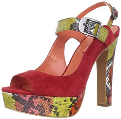 Via Spiga Women's Marie Platform Sandal,Red/Multi,5.5 M US