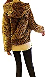 Superfs Lady Girl Lovely Leopard Faux Fur Hooded Fluffy Warm Jacket Coat Outwear by NYC Leather Factory Outlet