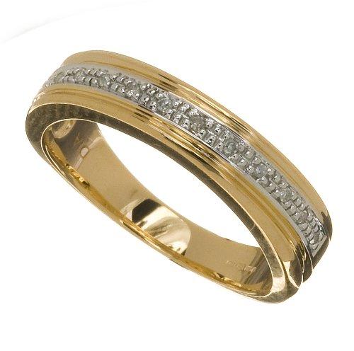 Ladies' 9ct Yellow Gold Diamond Wedding Ring