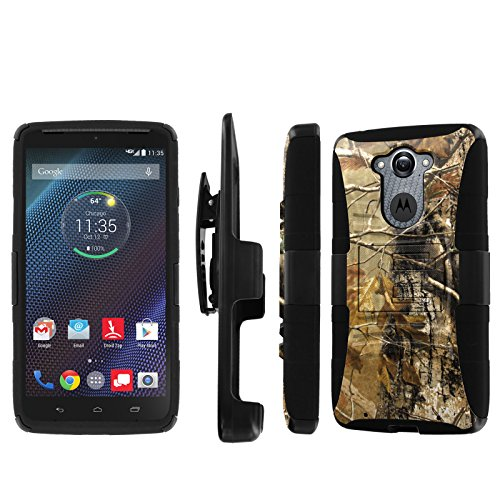 NakedShield Motorola Droid Turbo XT1254 Hunter Camouflage Combat Tough Holster KickStand Armor Phone Case