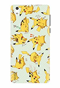 Noise Designer Printed Case / Cover for Lyf Water 1 / Animated Cartoons / Speely Pikachu Design