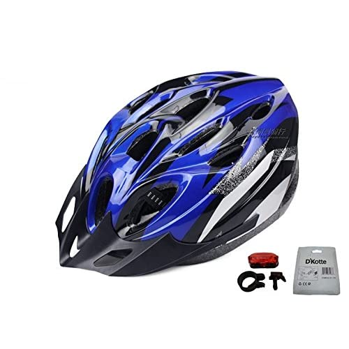 D'Kotte スタイリッシュ! 軽量! 自転車用 サイクリング ヘルメット 色選択できます! (青/黒)