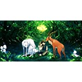 Akhuratha Designs Movie Princess Mononoke Love Wolf Garden Romantic HD Wall Poster