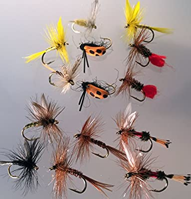 Fishing Flies DRY FLY Selection Classic Selection 14 Flies PACK#6 from BestCity