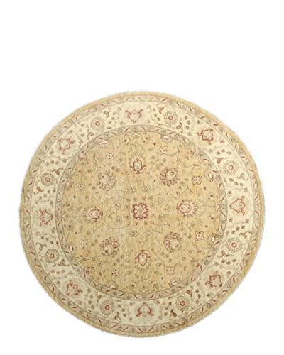 Bashian Rugs Hand Knotted Mansehra Rug, Gold, 8' Round