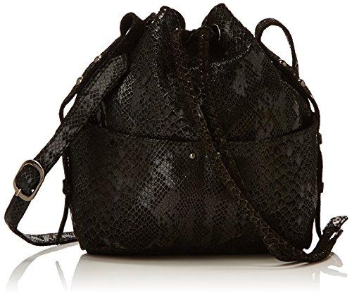 Petite Mendigote - Prosper, Borsa da donna, nero (snake black), unica