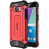 Cubix Defender Dual Layer Shockproof Bumper Back Case Cover For Samsung Galaxy A5 2017 (Red)