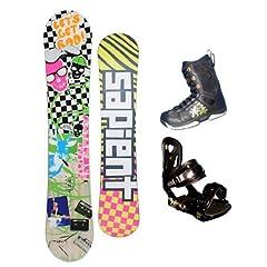 Buy 153cm Sapient Vortex-Rad-Identity Rocker Mens Snowboard, Boots and Bindings Package or deck, U build it by Sapient