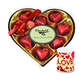 Full Of Joy Wrapped Chocolate Box With Love Mug - Chocholik Luxury Chocolates