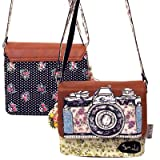 Disaster Designs Ditsy Mini Satchel Bag - Camera