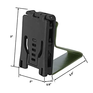 KRYDEX Hearing Protector Holder, Belt Waist Strap Clip Holder for IPSC USPSA IDPA 3-Gun Competition (OD) (Color: OD)