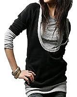 Bepei Hoody Sweat à Capuche Fashion Shirt Veste à Manches Longues en Coton Femme