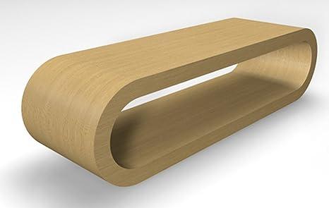 Retro-Stil Design-Reifen Großen Naturlichen Eiche Couchtisch / TV-Ständer 110 cm Breite