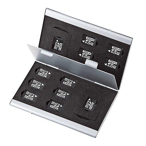 SANWA SUPPLY FC-MMC5MIC 両面収納アルミメモリーケース(microSD用)