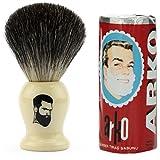 Rusty Bob - Afeitarse hecha de genuina pelo de tejón y jabón de afeitar Arko - beige rund