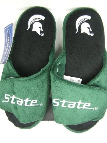 Michigan State Spartans 2011 Open Toe Two Tone Hard Sole Slippers - L at Amazon.com