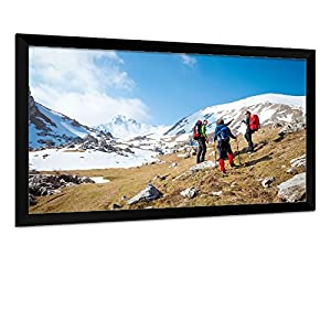Carl's Fixed Frame Projector Screen Kits, FlexiWhite (16:9 | 100 inch Diag. | 4x7 Ft | Rolled) HD/High-Def & Active 3D, Indoor Projection Screen, No Ambient Light, White, Gain 1.1
