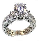 Bagues en argent - dames Bague - Bague en argent sterling - Mesdames Silver Ring - Bague de fiançailles - anneau de mariage - argent bague de fiançailles