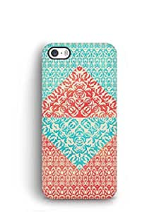 Cover Affair Colourful Patterns Printed Back Cover Case for Apple iPhone 4S