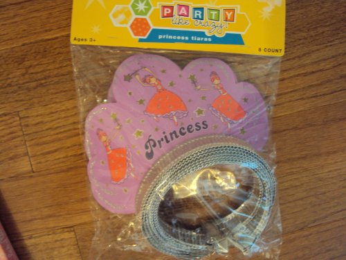 Princess Tiaras 8 Count