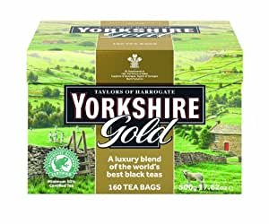 Taylors of Harrogate, Yorkshire Gold, 160-Count, Black Tea Bags