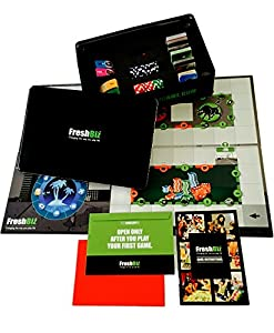 FreshBiz Game - Entrepreneur Strategy Business Board Game - Learn Real Life Business Strategies Ideal for Starting a Business - Based on The New Entrepreneurz Business Strategy Guide Book