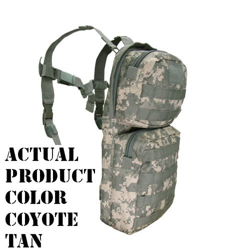 Condor HCB2 Tactical Hydration Carrier MOLLE Day Pack with Bladder - Coyote Tan (Condor Outdoor 3 Day Assault Pack compare prices)