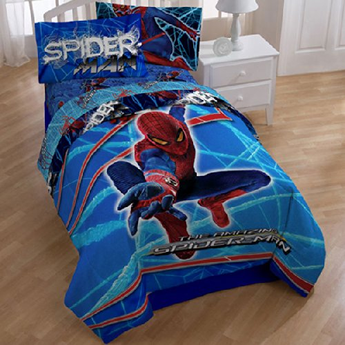 Spiderman Tech Comforter & Sheet Set-Twin Size