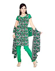 Sonal Trendz Women's Polyester Green Printed Dress Material - B00VHP1TX4