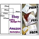 1000 X A4 EBAY / AMAZON INTEGRATED LABELS STICKY ADDRESS POST PACK PAPER INKJET