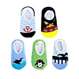 Blulu 5 Pairs Baby Socks Anti Slip Skid Socks for 8 - 36 Months Infants and Toddlers (Color: Multicoloured)