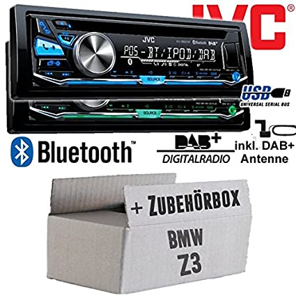 BMW Z3 - JVC KD-DB97BT - DAB+ Digitalradio | Bluetooth | USB | Autoradio inkl. DAB+ Antenne - Einbauset