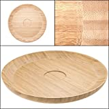 Salsabol Bamboo Chips and Dip Platter Server Tray, 15-Inch by Needo Designs