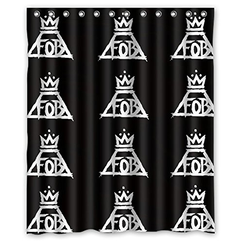[MOLD & MILDEW RESISTANT & Halloween Costume Personalized Custome Fall Out Boy Waterproof Polyester Fabric Bathroom Shower Curtain 60