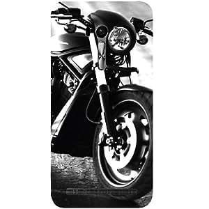 Casotec Cool Harley Davidson Design Hard Back Case Cover for Asus Zenfone Selfie ZD551KL
