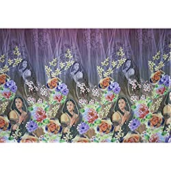 Aagaman Fashions Crape Fabrics (TSFD001_Mudgold)