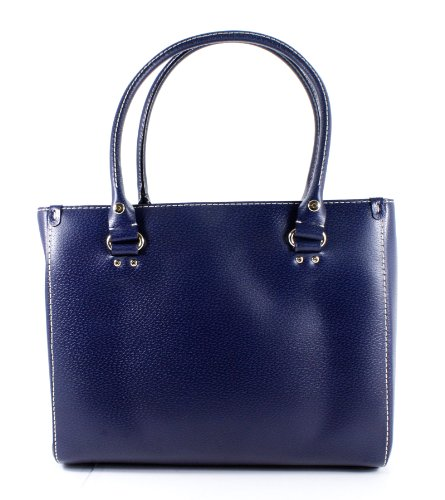 "New"" Kate Spade Wellesley Quinn Navy Blue Leather Handbag"