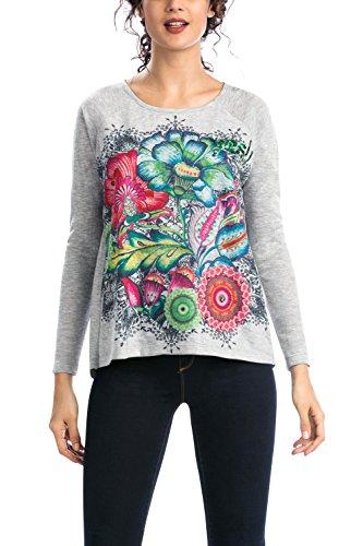 Desigual - TS_MARTINICA, T-shirt da donna, multicolore (mehrfarbig  (gris vigore claro 2042)), M
